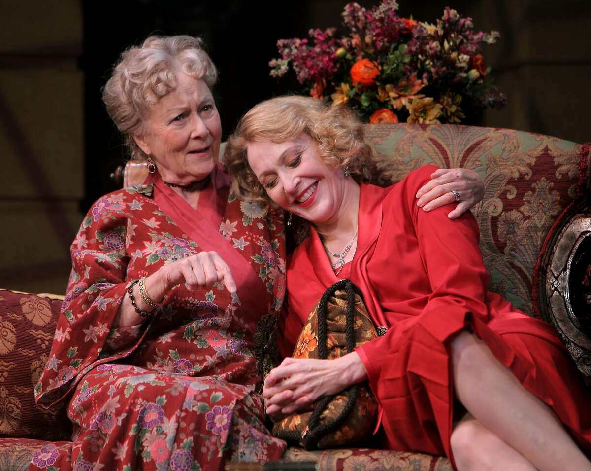 Jan Maxwell (right), with Rosemary Harris in