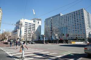 The intersection at Market and 8th Street where the construction site is located is seen in San Francisco, Calif., on Tuesday, February 13, 2018.