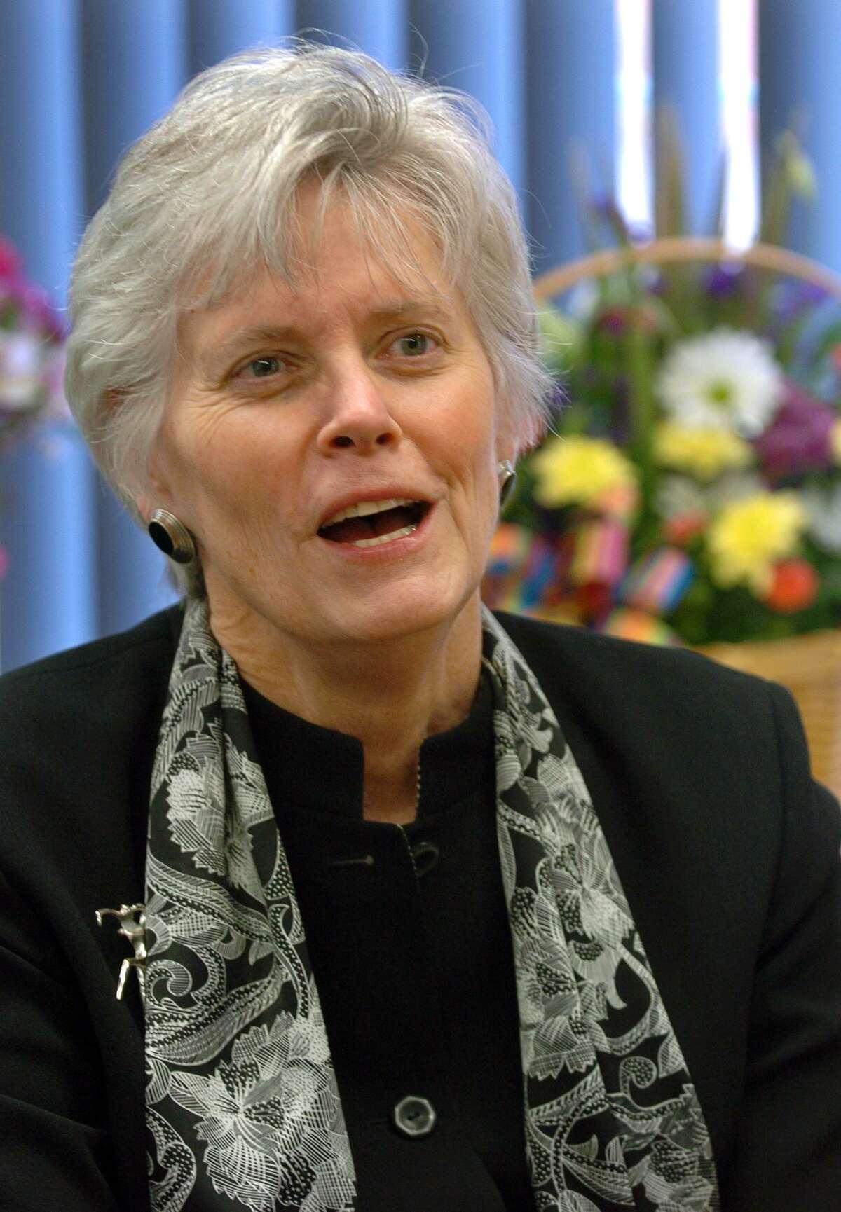 Elizabeth Feser, Milford's Superintendent of Schools, on Wednesday April 6, 2011. File photo.