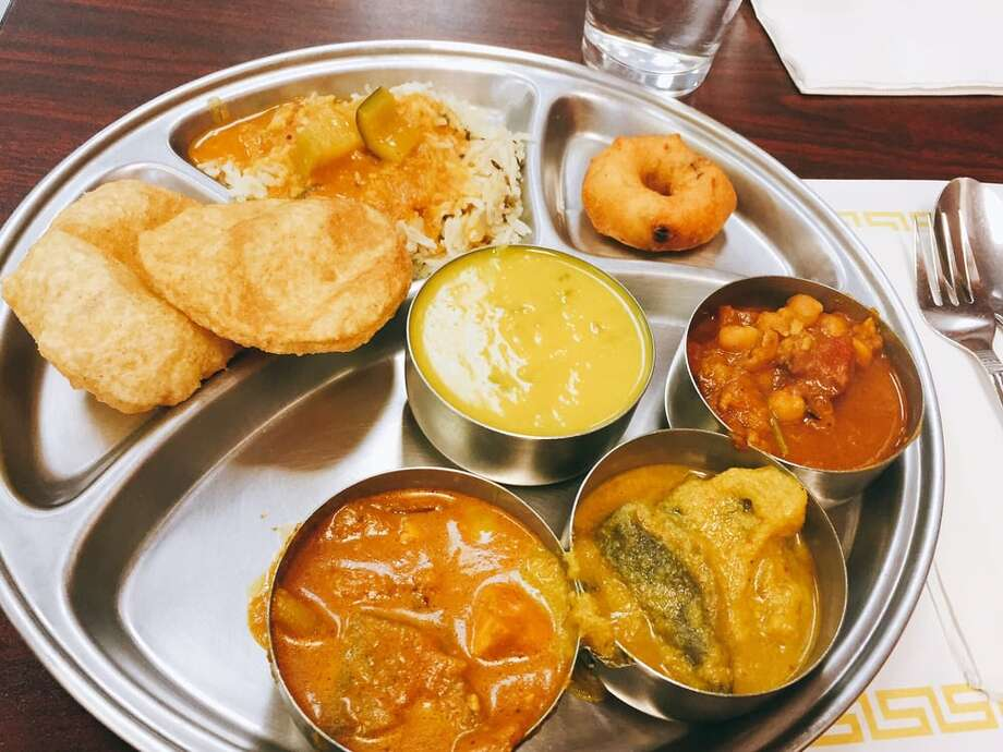 Udipi Cafe & Chaat House5959 Hillcroft Ste. A Houston, TX 77036Demerits: 44Inspection Highlights: Observed rasam (Indian soup) stored for more than four hours at room temperature. Food (rasam-Indian soup) not safe for human consumption. Food condemnation.  Photo: Yelp