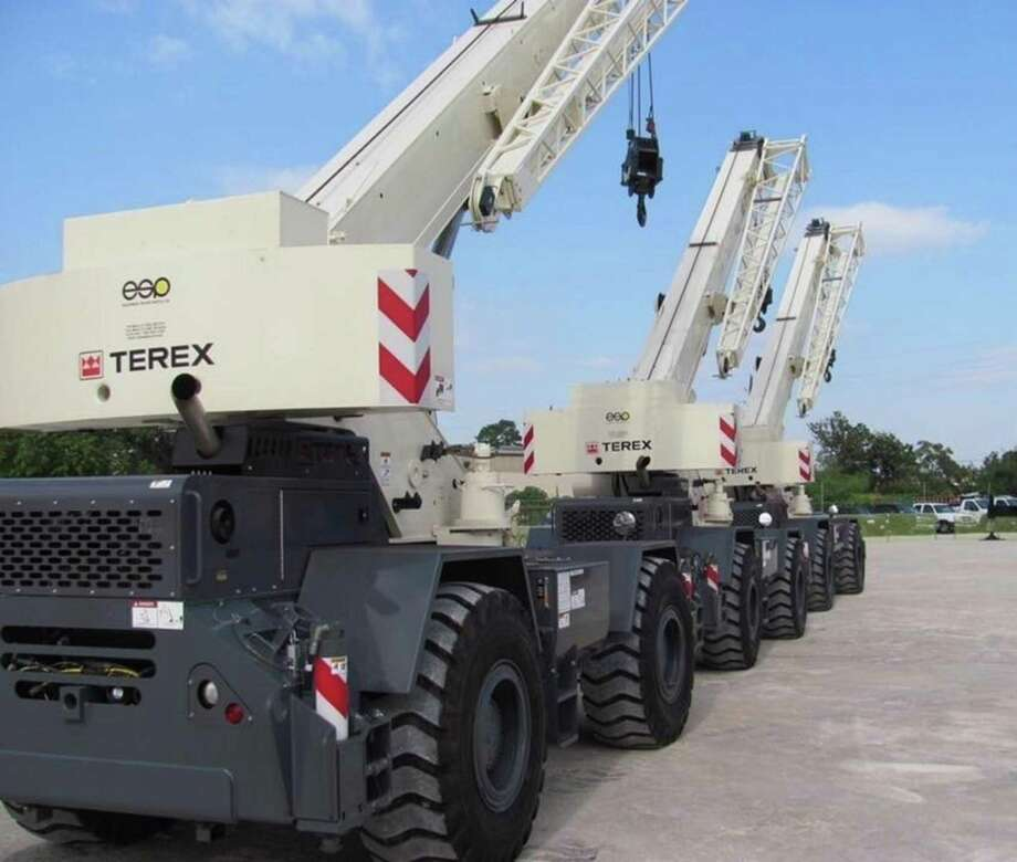 Terex mobile cranes at Miami-based Equipment Spare Parts. (Photo via PRNewswire) Photo: PR NEWSWIRE / Equipment Spare Parts