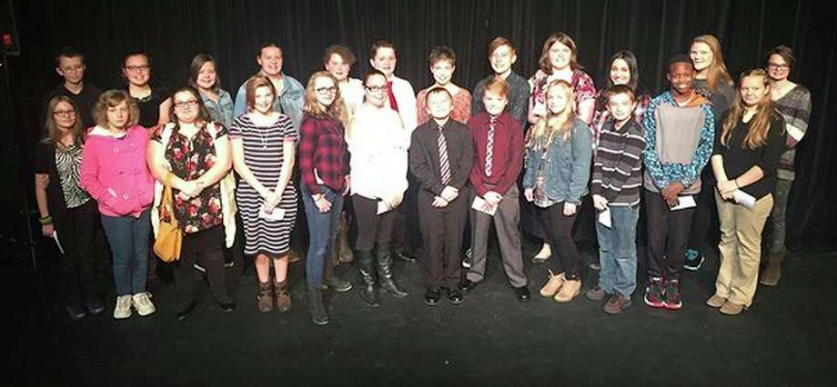 Mid Michigan Community College Students of Promise are, front row, from left: Chloe Sprague, Nina Hawkins, Serenity Ramsey, Lillian Waldron, Katelen O'Dell, Jaelea Boyless, Dominick Hall, Tanner Hipkins, Nellie Thorington, Spencer Shirey, Mathew Owens, Cadience Ferman. Back row, from left: Michael Drawe, Emily Klaver, Livia Boyless, Skylar Davy, Alexis Lenhart, Sam Stube, Ruby Frisch, Rylee Carncross, April Herron, Karma Cuellar, Bianca Herbers, Leah Lash. Not pictured: Richard Gully. (Photo provided)