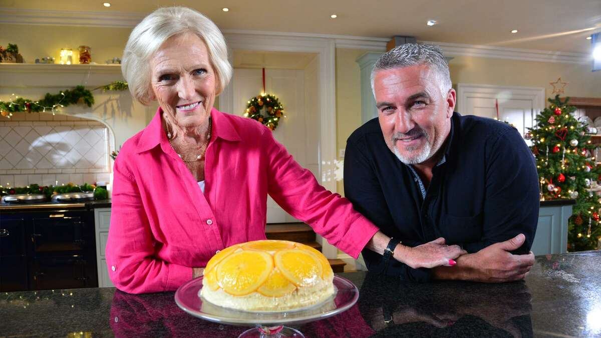 Mary Berry and Paul Holywood with their creation.
