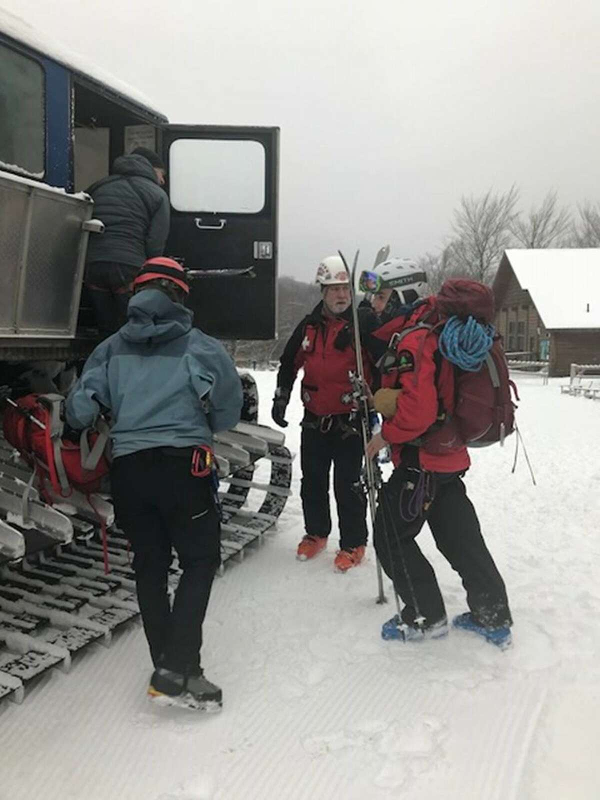 Search party members set out on Whiteface Mountain to look for missing skier, Constantinos