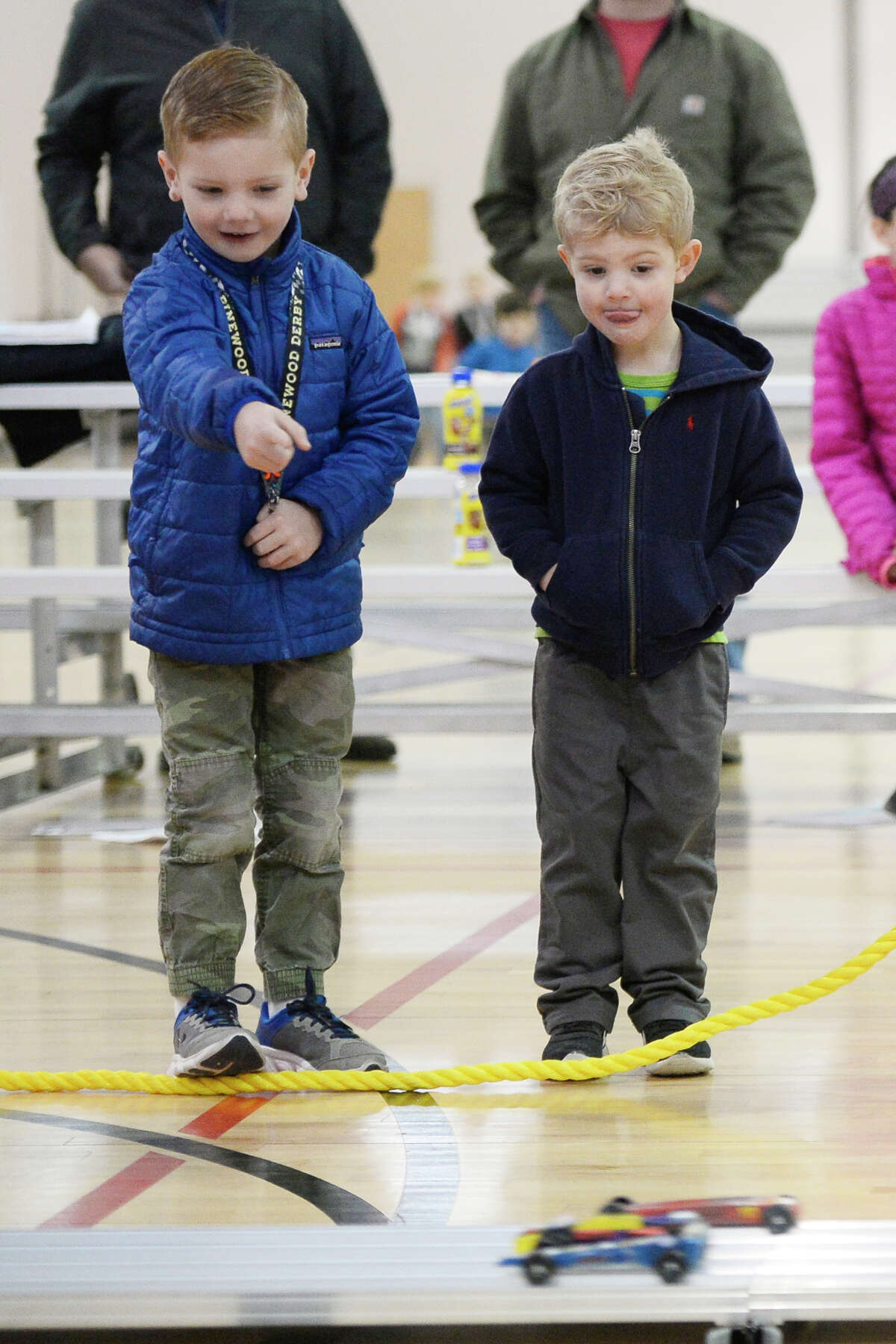 YMCA Indian Guides derby car race Feb. 10, 2018, at the Midland YMCA. James Durbin/Reporter-Telegram