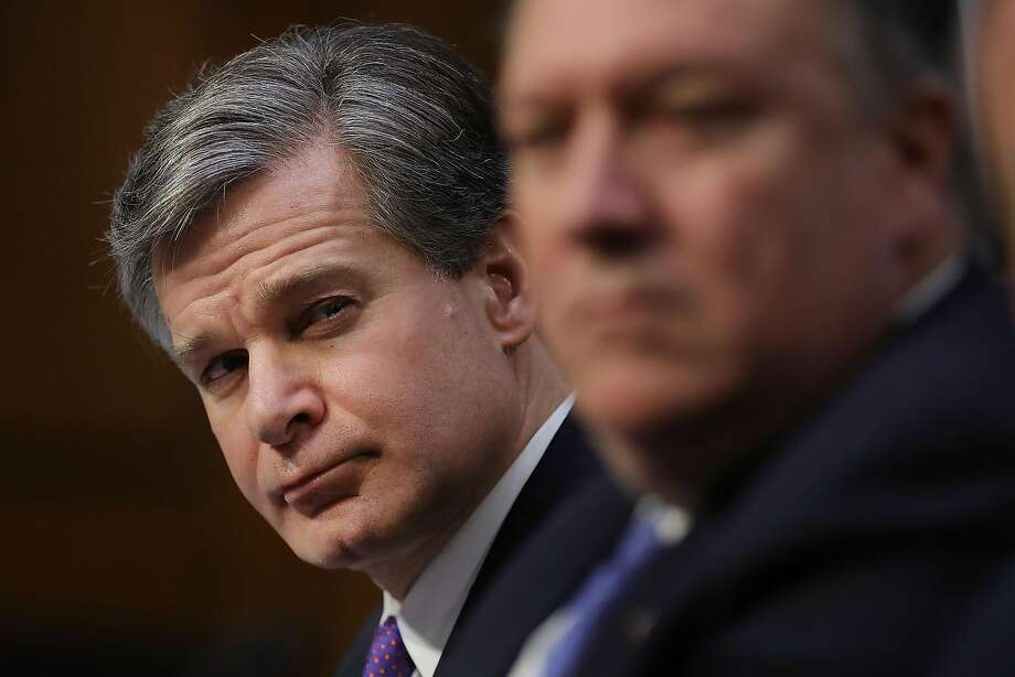 The testimony of FBI Director Christopher Wray (left) has challenged White House assertions about Rob Porter. Photo: Chip Somodevilla, Getty Images