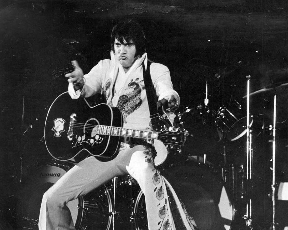 Elvis Presley in concert in 1974 in San Antonio. Photo: File Photo / Express-News / San Antonio Express-News