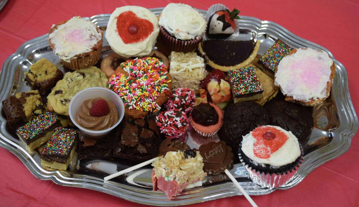 A variety of sweet treats, including brownies, cookies, chocolate-dipped strawberries and pretzels, cupcakes and more were available for patrons to sample.