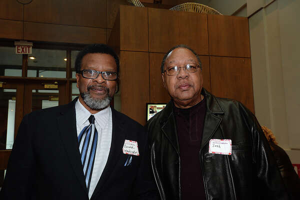Gerald Washington and Josh Donald were at the Gift of Life's annual Survivors Celebration held Tuesday at the Art Museum of Southeast Texas.  Photo taken Tuesday, February 13, 2018 Kim Brent/The Enterprise