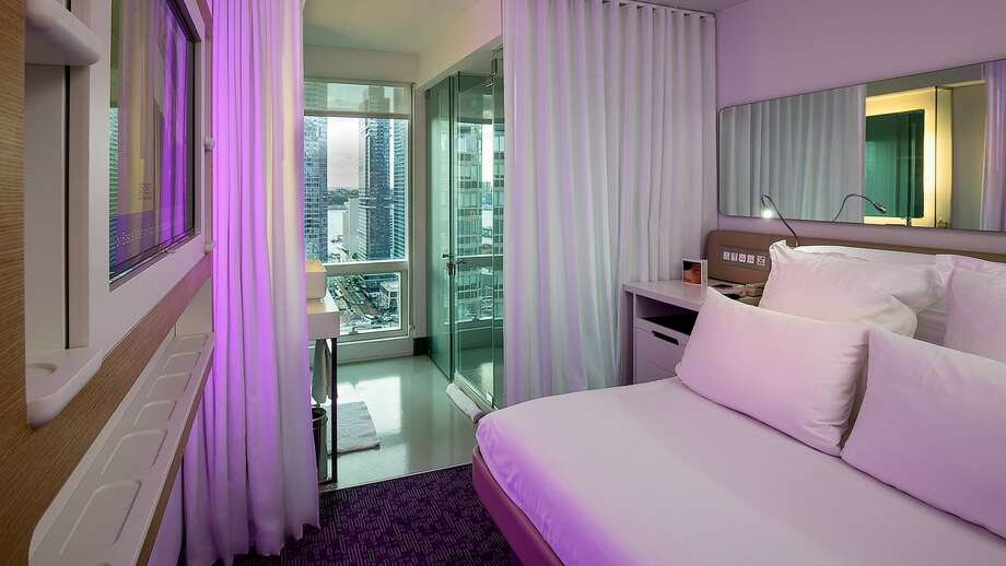 "A premium queen view ""cabin""  at New York's Yotel Photo: Yotel"