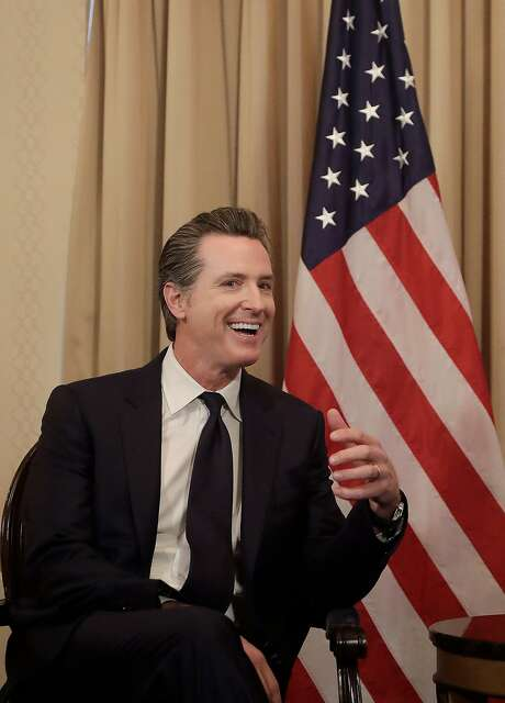 California Lt. Gov. Gavin Newsom got a big endorsement in his race for governor on Tuesday — the Service Employees International Union. Photo: Pool, Getty Images