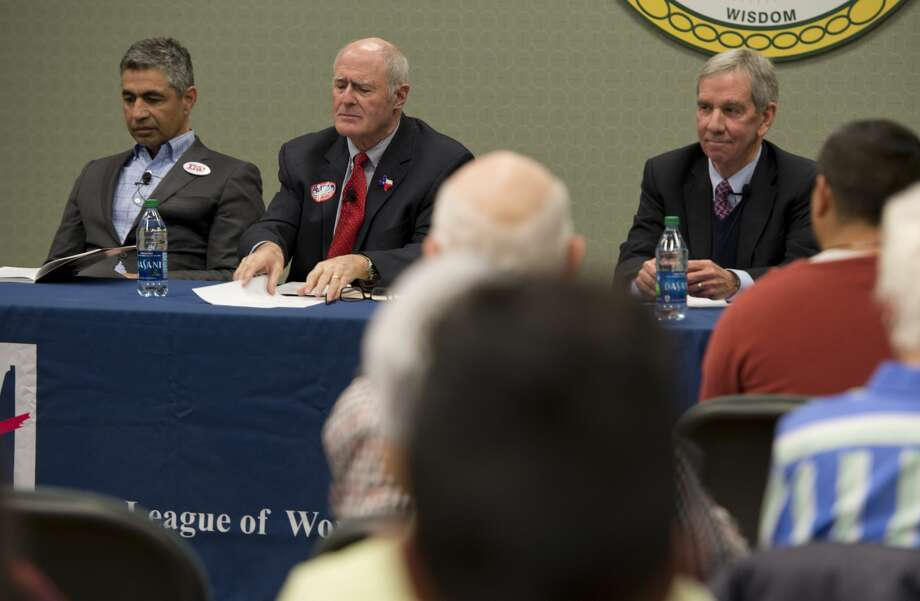 The League of Women Voters host Texas Senate District 31 candidates, Victor Leal, Senator Kel Seliger and Mike Canon 02/13/18 evening for a forum at Midland College. Tim Fischer/Reporter-Telegram Photo: Tim Fischer/Midland Reporter-Telegram