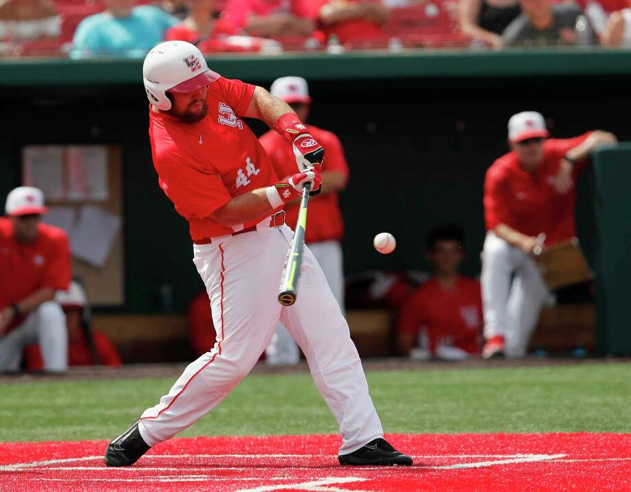 PHOTOS: Former Houston high school stars taken in the 2019 MLB Draft  Houston Cougars first baseman Joe Davis (44) hits a home run in the sixth inning during the 2017 NCAA Houston Regional baseball game between the Houston Cougars and the Baylor Bears at Schroeder Park on Saturday, June 3, 2017, in Houston, TX.  >>>See where former Houston-area players ended up in this year's draft ...  Photo: Tim Warner, Freelance / Houston Chronicle