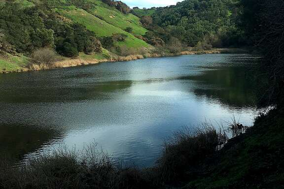 Lake Marie in Skyline Wilderness Park near Napa is tucked in a gorgeous valley, a hike of 2.2 miles to the lake that can be expanded to 7-mile trip.