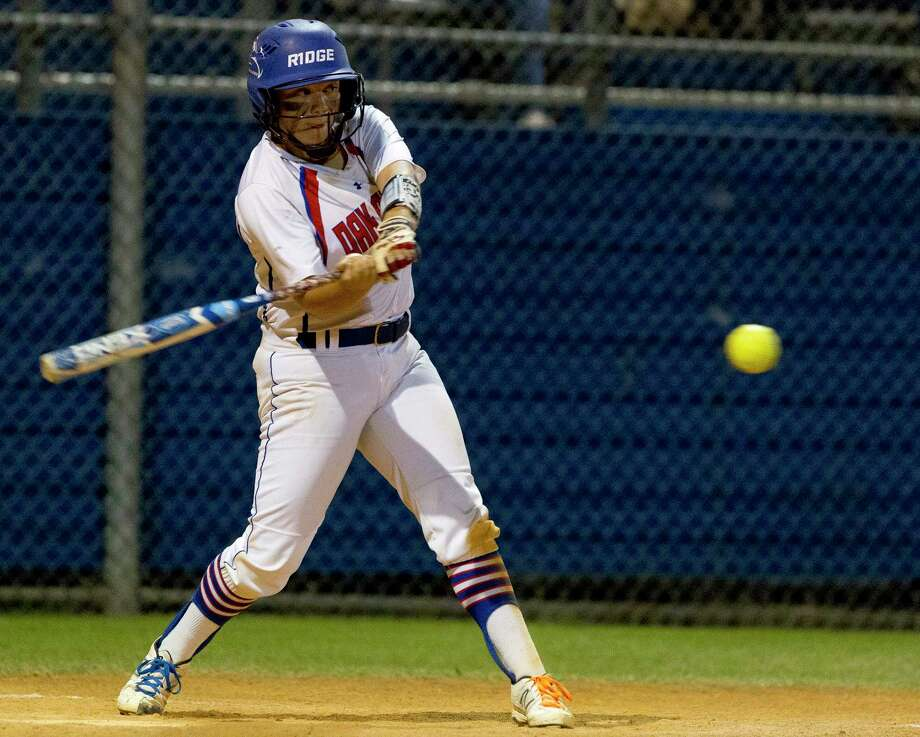 Oak Ridge's Autumn Sydlik, shown here last season, was 1-for-4 with a double and two RBIs Tuesday evening against Klein. Photo: Jason Fochtman, Staff Photographer / © 2017 Houston Chronicle