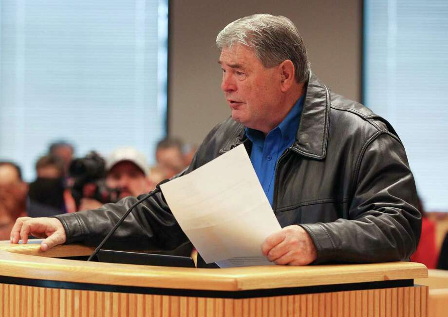 Montgomery County Precinct 2 Constable Gene DeForest speaks during a Montgomery County Commissioners Court meeting at the Alan B. Sadler Administration Building. Photo: Jason Fochtman, Staff Photographer / © 2018 Houston Chronicle