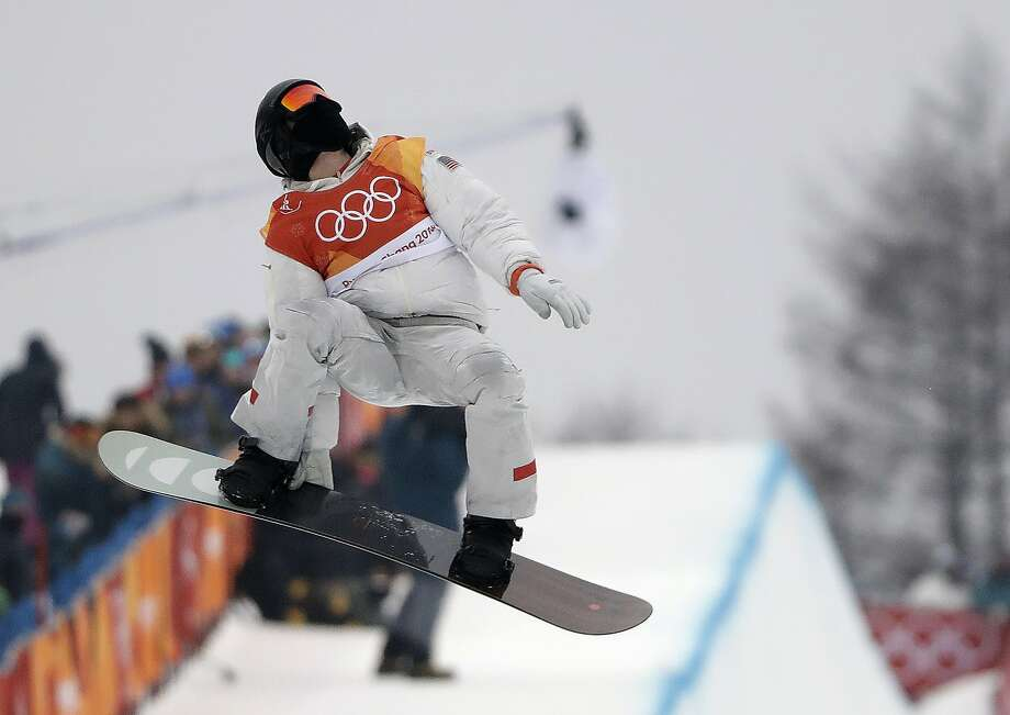Shaun White, of the United States, jumps during the men's halfpipe finals at Phoenix Snow Park at the 2018 Winter Olympics in Pyeongchang, South Korea, Wednesday, Feb. 14, 2018. Photo: Gregory Bull, Associated Press