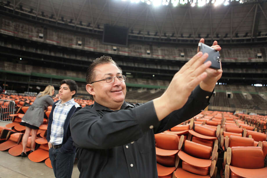 The seats had been removed and it wasn't in the best of shape, but the Astrodome still held appeal to Art Murillo and others who went on a tour of the building in 2015. Photo: Alan Warren / Houston Community Newspapers
