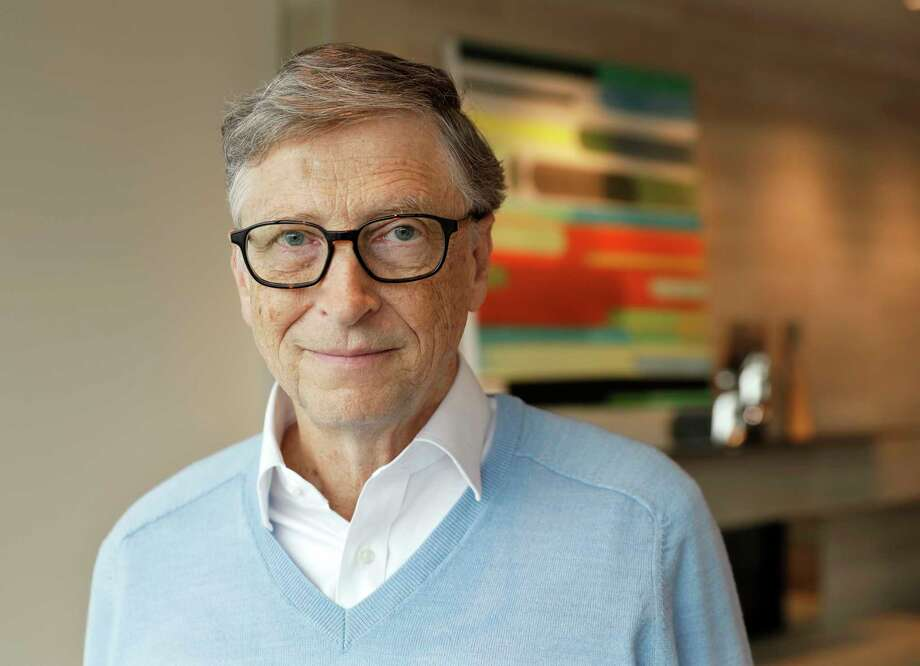 In this Feb. 1, 2018 photo, Microsoft co-founder Bill Gates, with his wife Melinda, poses for a photo before an interview with The Associated Press in Kirkland, Wash. Photo: Ted S. Warren, STF / Copyright 2018 The Associated Press. All rights reserved.