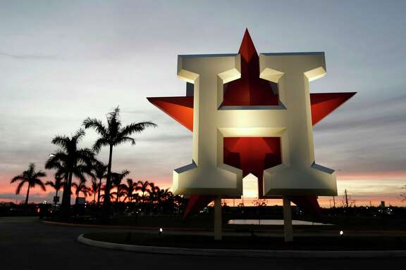 The Astros begin spring training workouts today at their complex in West Palm Beach, Fla.