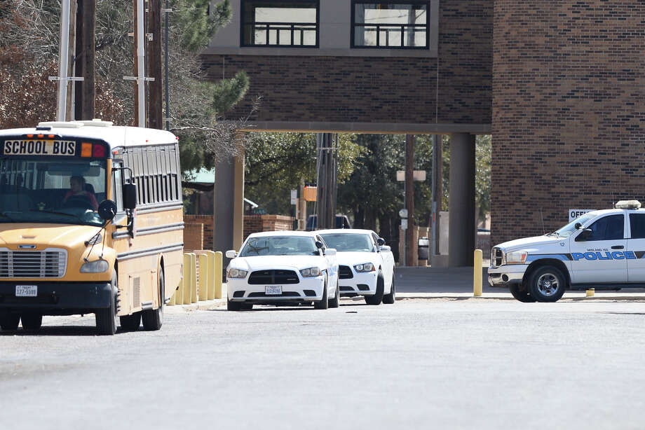 Midland High was placed under a lockdown as authorities searched the campus for a weapon, Feb. 13, 2018.  James Durbin/Reporter-Telegram Photo: James Durbin/Reporter-Telegram