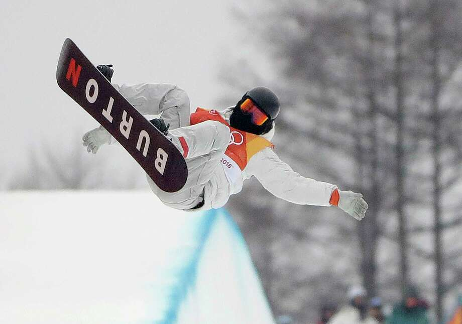 Shaun White, of the United States, jumps during the men's halfpipe finals at Phoenix Snow Park at the 2018 Winter Olympics in Pyeongchang, South Korea, Wednesday, Feb. 14, 2018. (AP Photo/Gregory Bull) Photo: Gregory Bull / Copyright 2018 The Associated Press. All rights reserved