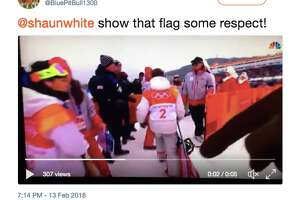 Twitter users react to Shaun White dragging the US flag on the ground after winning gold in Pyeongchang.