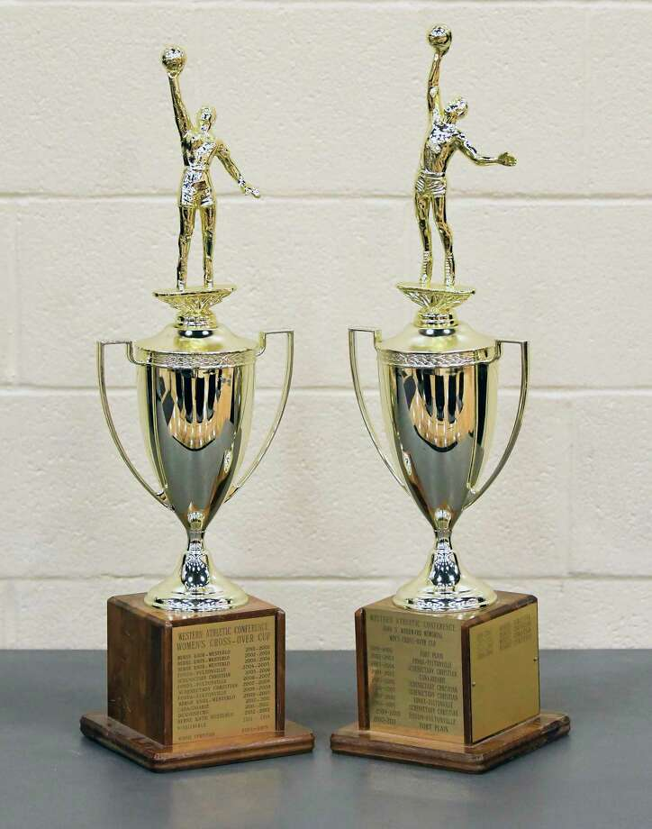 Game Trophys for the Boys-Girls Western Athletic Conference high school basketball tournament  Tuesday, Feb. 13, 2018, in Johnstown, N.Y. (Hans Pennink / Special to the Times Union) Photo: Hans Pennink / Hans Pennink