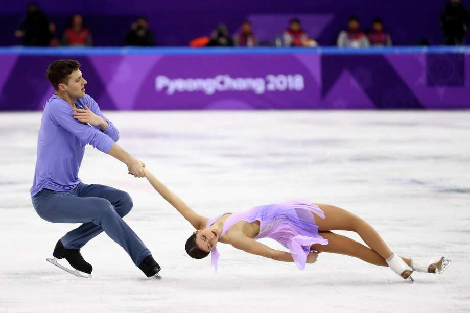 GANGNEUNG, SOUTH KOREA - FEBRUARY 14:  Natalia Zabiiako and Alexander Enbert of Olympic Athlete from Russia compete during the Pair Skating Short Program on day five of the PyeongChang 2018 Winter Olympics at Gangneung Ice Arena on February 14, 2018 in Gangneung, South Korea.  (Photo by Dean Mouhtaropoulos/Getty Images) Photo: Dean Mouhtaropoulos / Getty Images / 2018 Getty Images