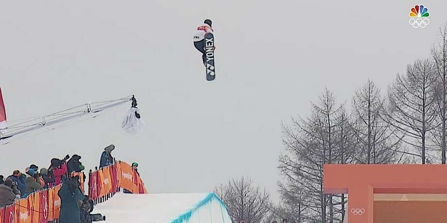 16-year-old Japanese snowboarder Yuto Totsuka suffered a scary fall in the men's halfpipe final on Wednesday in Pyeongchang. Photo: NBC
