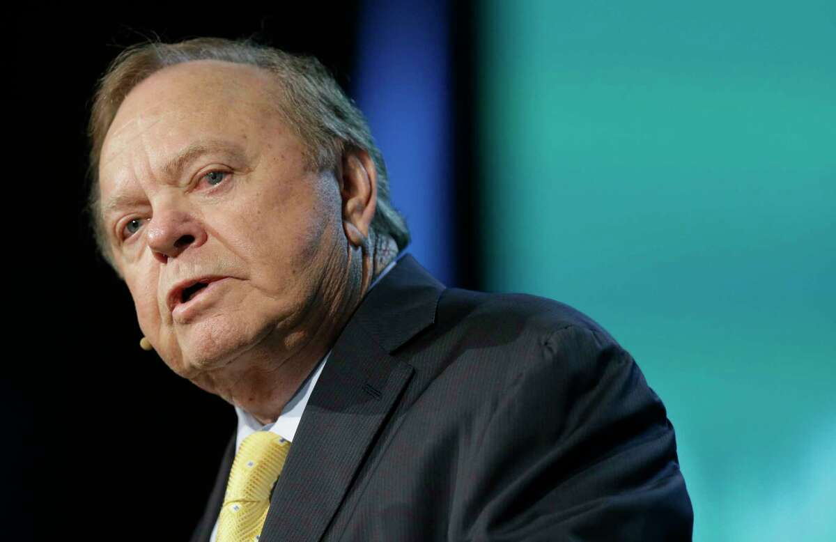 Harold Hamm, chairman and CEO of Continental Resources, Inc., speaks during CERAWeek by IHS Markit Wednesday, March 8, 2017, in Houston. ( Melissa Phillip / Houston Chronicle )