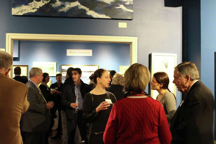 Geary Gallery-Accent Framing on Post Road hosted a welcoming event for new members of the Darien Chamber of Commerce. Picture taken Feb. 13, 2018. Photo: Humberto J. Rocha / Hearst Connecticut Media / Darien News