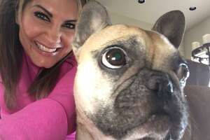 """Bohl gets wacky with her """"youngest daughter,"""" a French bulldog named Lola. She's even been known to dress her up as …"""
