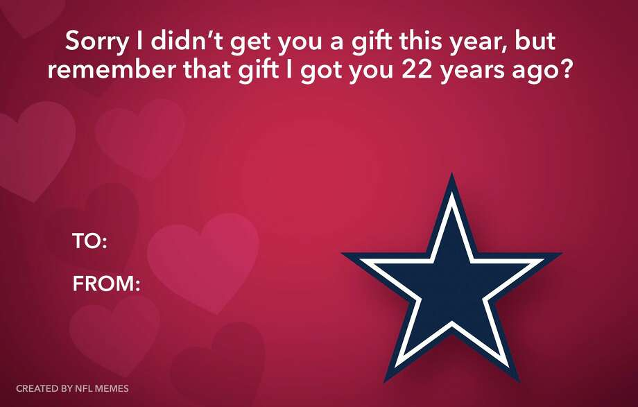 PHOTOS: The best NFL-themed Valentine's Day CardsSource: NFL Memes on Facebook Photo: Facebook.com/MEMES.of.the.NFL