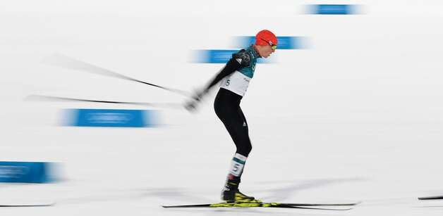 Germany's Eric Frenzel competes to win gold in the nordic combined men's individual normal hill NH/10km cross country final at the Alpensia cross country centre during the Pyeongchang 2018 Winter Olympic Games on February 14 , 2018 in Pyeongchang. Photo: CHRISTOF STACHE/AFP/Getty Images
