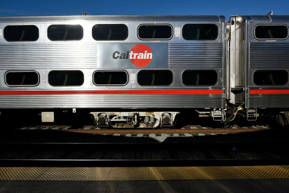 A logo is seen on the side of a train as it sits at the CalTrain Station in San Francisco, Calif., on Thursday December 21, 2017. Photo: Michael Short, Special To The Chronicle