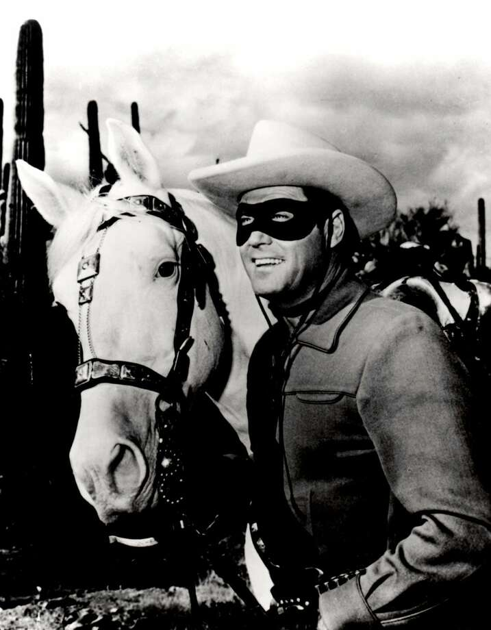 Clayton MooreThe Lone Ranger rode into the hearts of Houston fans in 1946. Photo: AP / AP