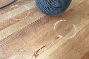 As reported by the Wirecutter, Apple's new HomePod speakers can leave white rings on wood surfaces.