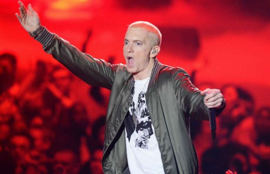 eminem s feud with rapper machine gun kelly is dominating youtube