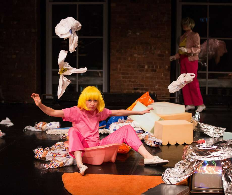 Cori Olinghouse (left) and Martita Abril in the parody of consumerism. Photo: Scott Shaw