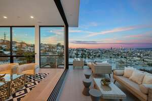 """A brand-new modern masterpiece at 1783 Noe St. in Laidley Heights in San Francisco is listed for $7.7 million. With floor-to-ceiling windows offering sweeping city views, the home is known as """"Noe Looking Glass."""""""