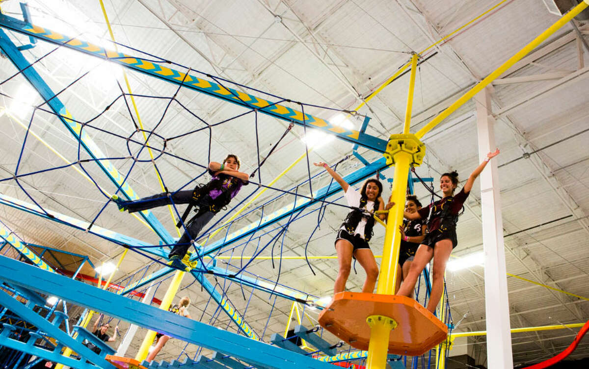 The ropes course at an Urban Air Trampoline Park & Adventure location.