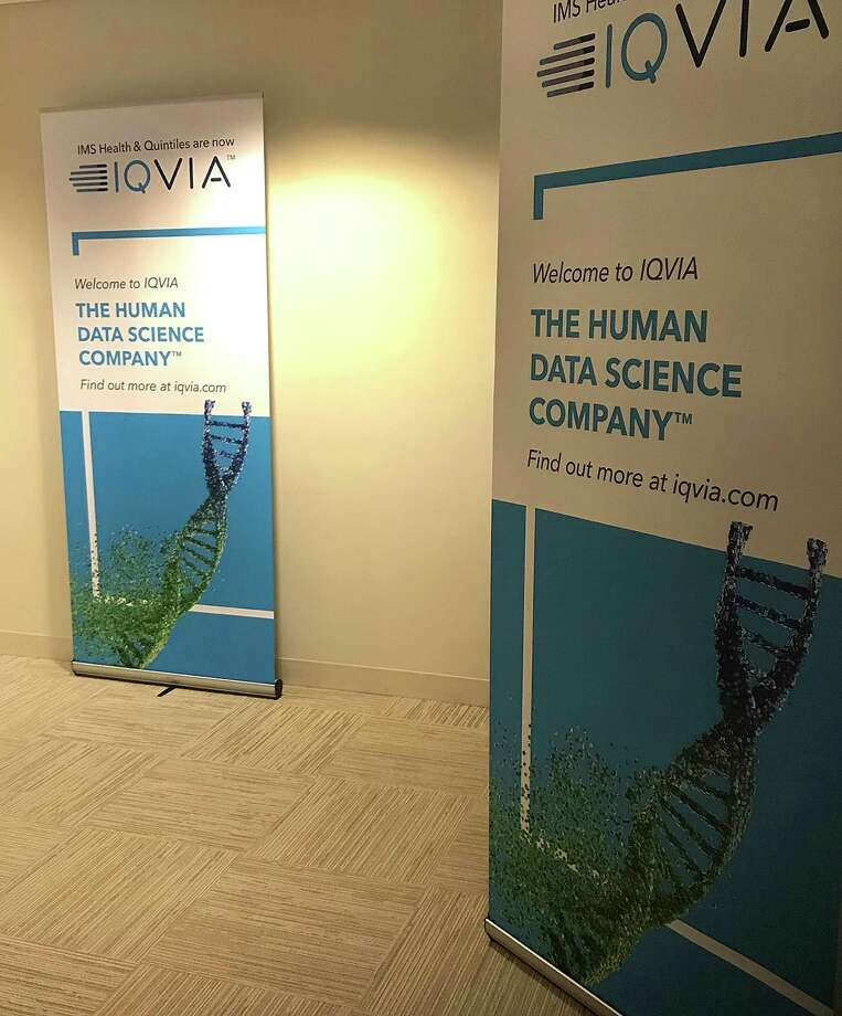 The entrance to QuintilesIMS in Danbury, Conn., reflects the company's new name, IQVIA, on Monday, Nov. 6, 2017. Photo: Chris Bosak / Hearst Connecticut Media / The News-Times