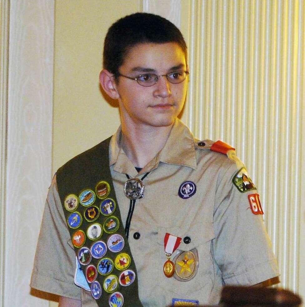 Matthew Whalen in 2005, when he was honored for saving his aunt's life. (Times Union Archive)