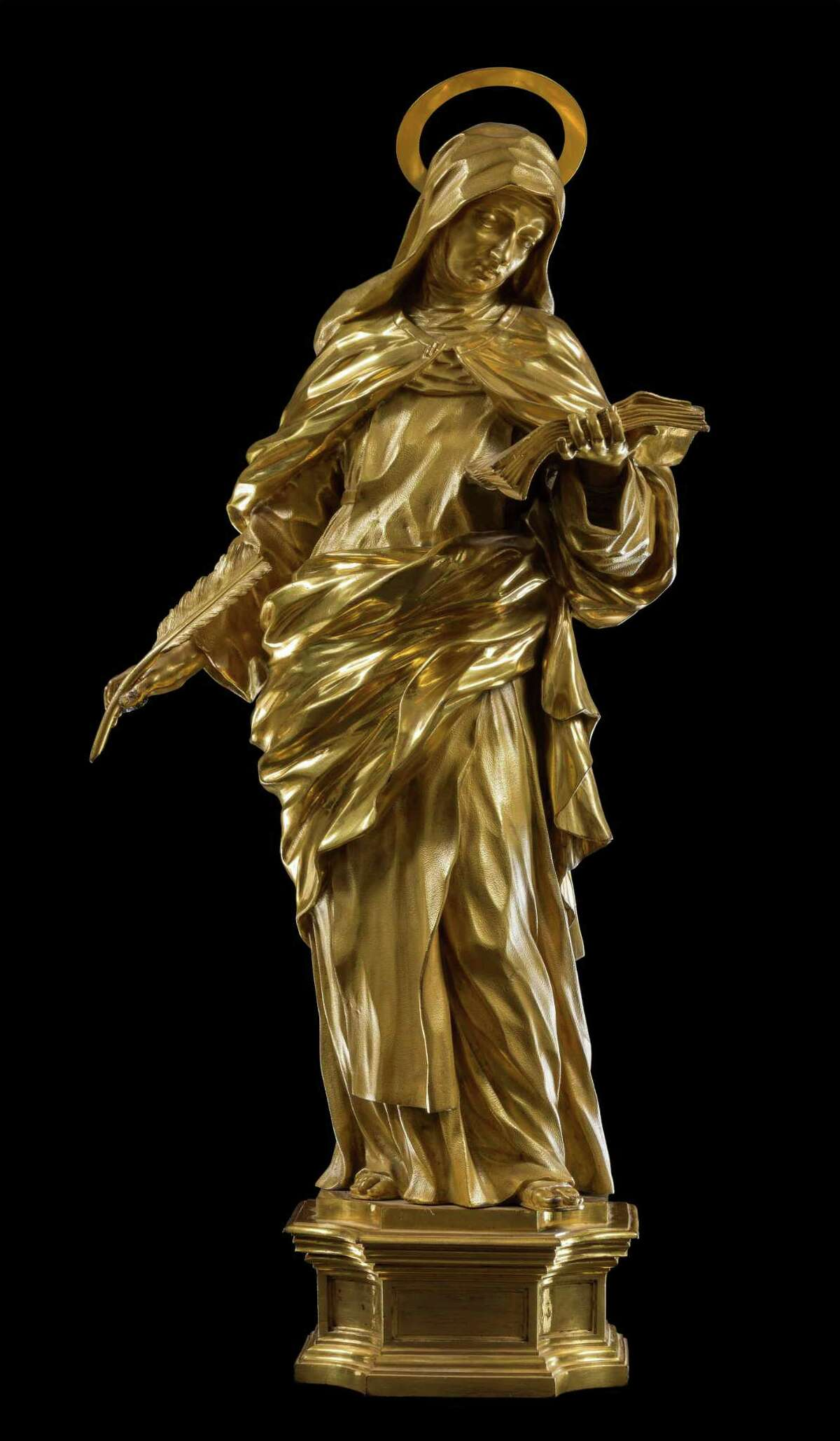 Ciro Ferris' statue of St. Teresa of Avila is among five pieces on loan from the Church of the Gesu in Rome for Fairfield University's exhibit,