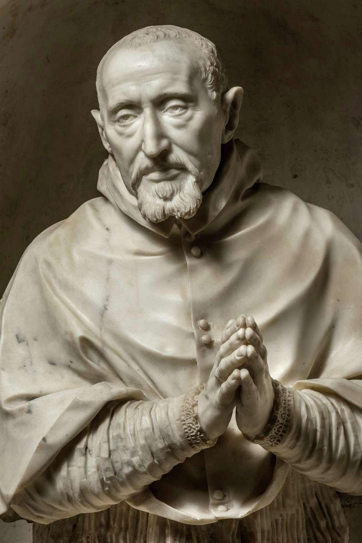 The late Italian artist Gian Lorenzo Bernini's bust of Cardinal Roberto Bellarmino is the highlight of the exhibit,