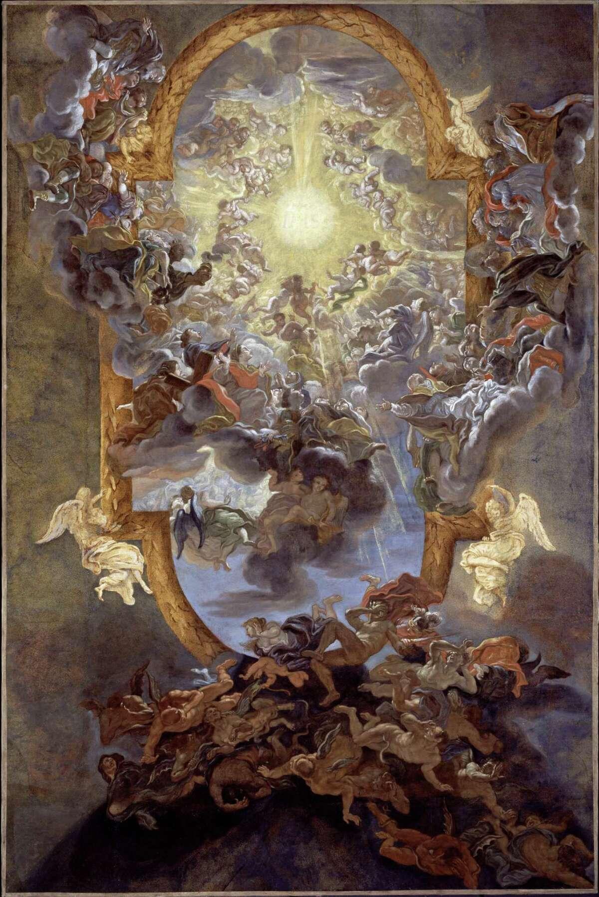 An oil study of the fresco