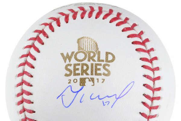 Jose Altuve autographed baseball.