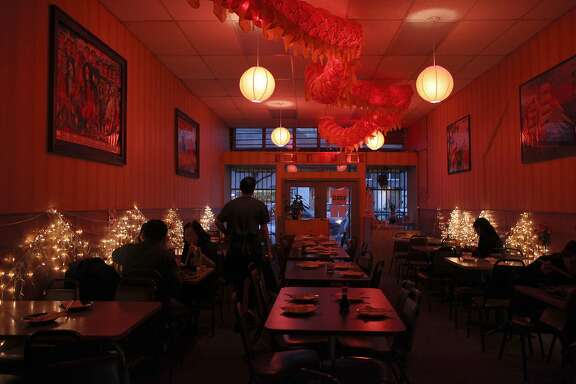 Chinese Mission Food restaurant beginning to open for dinner in San Francisco, Calif., on Friday, February 25, 2011.