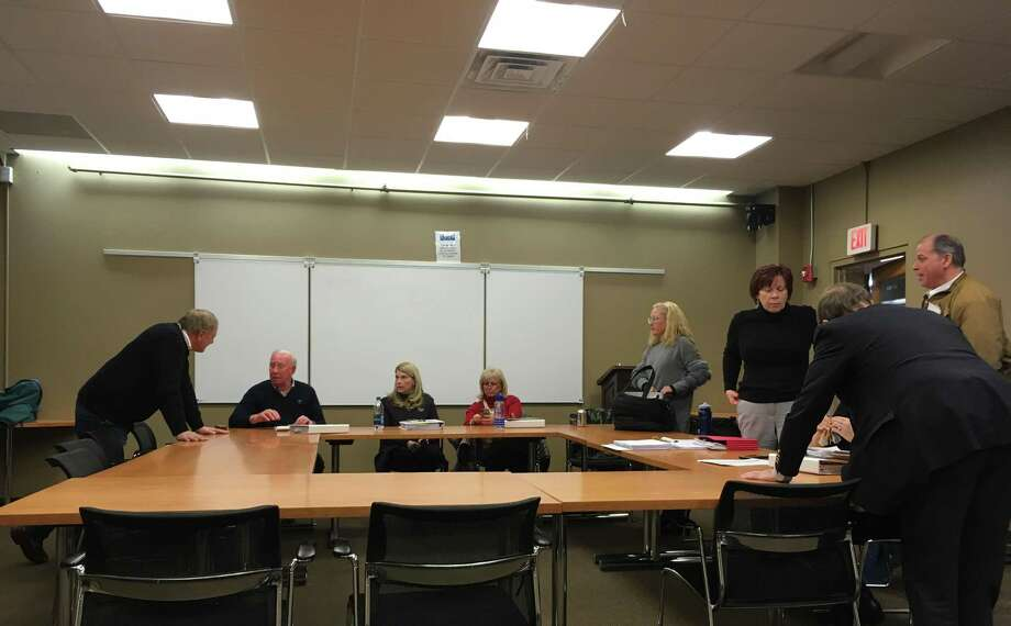 The Board of Selectmen met at Darien Town Hall on Feb. 13, 2018 to discuss the budget. Photo: Humberto J. Rocha / Hearst Connecticut Media / Darien News